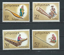 PHILIPPINES ,1968 , MUSICAL INDUSTRY , SET OF 4 ,  PERF,  MNH