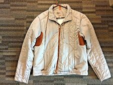 RLX POLO RALPH LAUREN MENS SILVER BROWN LEATHER SPORT JACKET XL SIZE VINTAGE