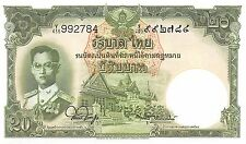 Thailand 20  Baht  ND.1953  P 77d  Series Y/436 Sign. # 44 Uncirculated Banknote
