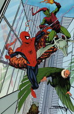 Barry Kitson SIGNED Con Exclusive Spiderman Art Poster Green Goblin Goblin