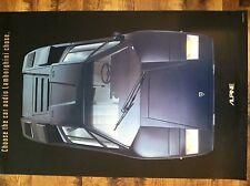 Alpine/Lambourgini Car Audio Poster 1983