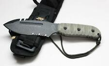 Tops Knives Stryker Defender Tool Custom Full Black Fixed Blade Knife TKDEFT-01