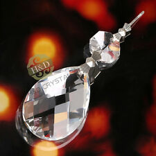 10 Clear Grid Chandelier Glass Crystals Lamp Prisms Parts Hanging Pendants 38mm