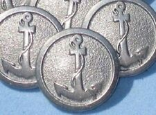 """ANCHOR Picture Set 12 PEWTER Metal Vintage new Buttons 3/4"""""""