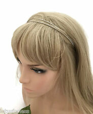 Double Silver Round Wire Headband Hair Band Alice Band Millinery Tiara Part