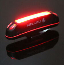 Black LED USB Rechargeable Head light Flash Bicycle Bike Stop Rear Tail Lamp