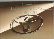 TOYOTA LANDCRUISER II, VX AND 4RUNNER SALES BROCHURE 1993 1994