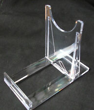 20 X LARGE CLIP TOGETHER , TWO PART  MINERAL, FOSSIL DISPLAY STANDS, PERSPEX,