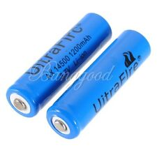 2x 3.7V 1200mAh ICR 14500 AA Rechargeable Battery Batteries Free Shipping New