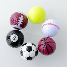 1 Set 6PCs Novelty Creative Golf Balls Fathers Day Best Present Gift Rubber