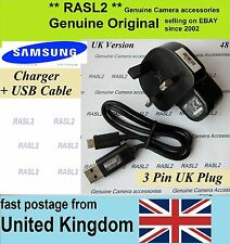 Genuine Original Samsung charger + USB cable ST96 ST200f ST201f ST205f DV151f