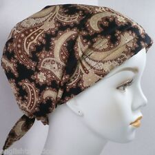 Dramatic Paisley Cancer Chemo Hat Scarf Fitted Turban Alopecia Cotton Headwrap