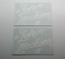 New Cheech and Chong Love Machine Rear Window Decal Pair Impala Up In Smoke 420