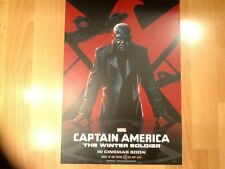"Captain America & Nick Fury Two Sided Poster 17"" x 12"" The Winter Solider VUE"