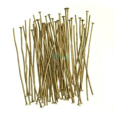 Silver Gold Copper Bronze Plated Ball Head Eye Pins Finding 15/20/30/40/50/60mm