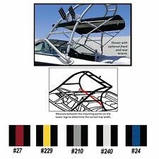 "TOWER BIMINI TOP for Wakeboard Tower Boats 5'L X 26""H X 90""-98""W Striped Colors"
