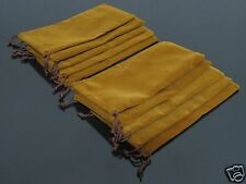 100 PCS Brown Flannel Bag Pipe Bag For Tobacco Smoking Pipe #572