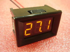 "7-150V Yellow 0.36"" Two wire Panel Voltmeter DC LED Display Digital 100V 12V H18"