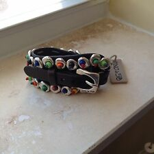"NWT Uno de 50 Colorful Buckle Bracelet 1-1/2""H"