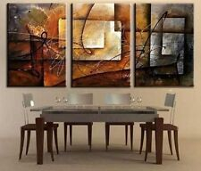 MODERN ABSTRACT HUGE WALL ART OIL PAINTING ON CANVAS (no framed)3PC