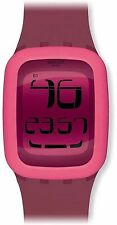 NEW Swatch SURP102 Digi-Lily Watch Pink Silicone Digital Touch Dial Alarm Day
