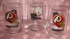 Redskins NFL Glasses - Set of 3
