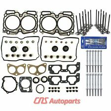 For 99-05 Subaru Saab 2.5L SOHC MLS Cylinder Head Gasket+ Bolts+ Valves Kit EJ25