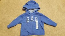New Boys Girls Gap Blue Bear Ears Hoodie Size 6-12 Months