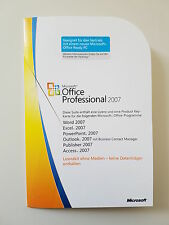 Microsoft Office 2007 Professional Pro MLK V2 Deutsch neu inkl. Access 269-13719