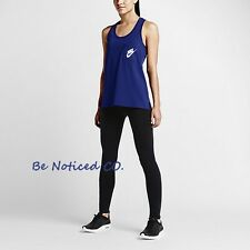 Nike Signal Women's Tank Top L Blue White Gym Casual Training Running New