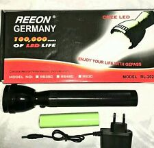 Reeon Alemania antorcha GFL GREE LED Recargable LED Antorcha/Flash De Luz RL 202
