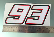 Marc Marquez Number 93 Sticker / Decal - 200mm x 95mm
