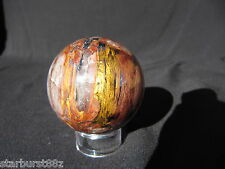 "1.91"" BINGHAMITE SPHERE RARE RED QUARTZ HEMATITE METAL BALL MINNESOTA"