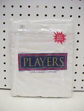 2pr Mens Players White Cotton Briefs Underwear 5X 58-60