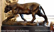 Bronze Panther siniert Bugatti Bronzefigur Bronzeskulpturen Bronze Figuren