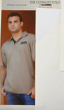 BIG DOG MOTORCYCLE MEN'S ULTIMATE POLO SHIRT LARGE EMBROIDERED LOGO