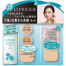 Kose Japan ESPRIQUE Beautiful Stay Make Up Base EX (30g/1oz.) SPF50+ Bonus Set