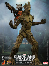 Hot Toys Marvel Guardians of the Galaxy Groot & Rocket Sixth Scale Set MMS254
