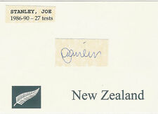 Joe Stanley NZ ALL BLACK SIGNED RUGBY CARD