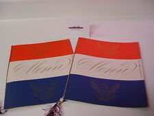 SS UNITED STATES LINES  Pair of 1957 Lunch Menu's  /  Top Condition