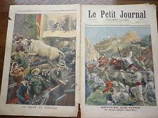 PETIT JOURNAL 1897  N° 352 révolte INDE ANGLAIS / un boeuf au théâtre 2