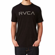 NWT MEN'S RVCA BIG RVCA SIZE MEDIUM T-SHIRT BLACK GRAPHIC LOGO SURF SKATE TEE