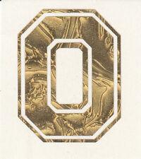 Ohio State Buckeyes Block O 2 inch gold leaf helmet decal sticker osu yeti