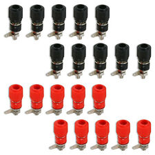 Binding Post Terminal Speaker Test Plug Socket Connector Red Black x 10 Pairs