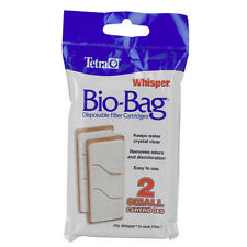TETRA BIO BAG WHISPER SMALL 3i CARTRIDGE 2 PACK FOR POWER FILTER FREE SHIP USA