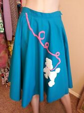 VTG 50's 60's Circle Swing Rockabilly Pinup Bombshell Retro Poodle Dog Skirt
