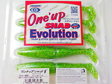 "SAWAMURA - One' up SHAD Evolution 6"" #020 CHARTREUSE GREEN GOLD"
