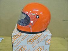 Vintage NOS Shoei S12 S 12 Motorcycle Full Face Helmet Small Orange