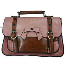 BANNED RETRO BRIEFCASE BAG STEAMPUNK MESSENGER  GOTH FAUX LEATHER VINTAGE GOTHIC