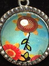 "Summer Sunflowers Charm Tibetan Silver with 18"" Necklace A30"